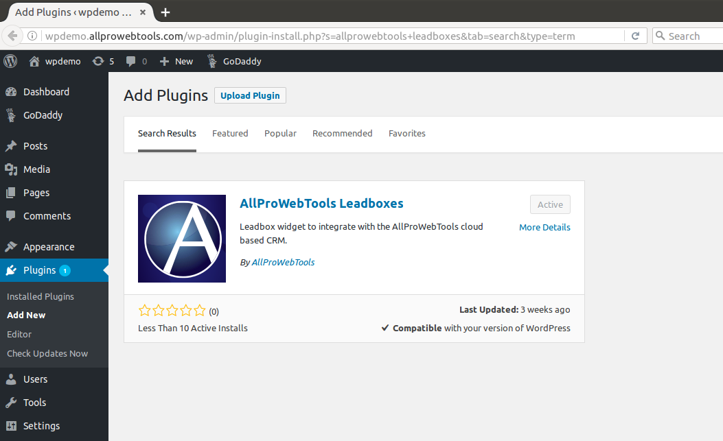 New from AllProWebTools: WordPress Leadbox Plugin [4.5]